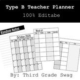 Type B Teacher Planner