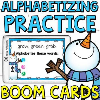 Type and Alphabetize Boom Cards (Digital Task Cards) for Grades 2 and 3