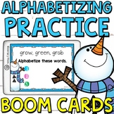 Type and Alphabetize Boom Cards (Digital Task Cards) for G