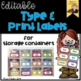 Type and Print Labels