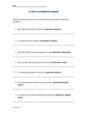 FREE- FRENCH ACTIVITY- Type et forme de la phrase