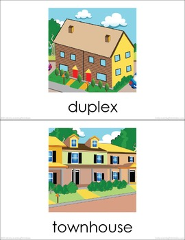 Types of Housing Picture Flashcards