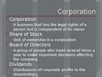 Type of Ownership - Entrepreneurship Ch. 7