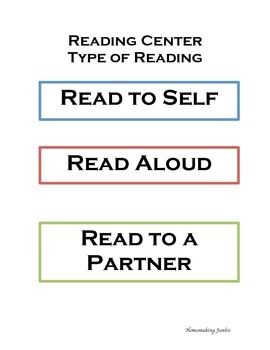Type of Reading Chart