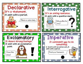 Type of Sentences Flashcards 3-5