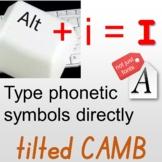 Type phonetic symbols directly, Multifunctional font for e