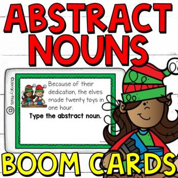 Type the Abstract Noun Boom Cards (Digital Task Cards) for Grades 3 and 4