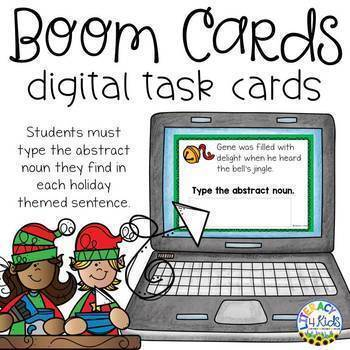 Type the Abstract Noun Boom Cards (Digital Task Cards) for Third Graders