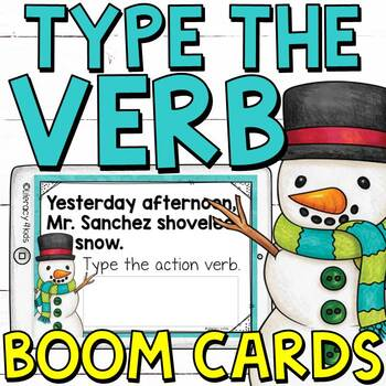 Type the Action Verb Boom Cards (Digital Task Cards) for Grades 2 and 3