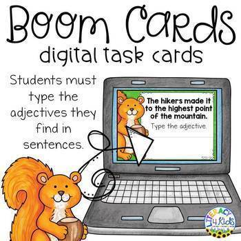 Type the Adjective Boom Cards (Digital Task Cards) for 3rd Graders