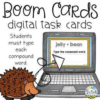 Type the Compound Word Boom Cards (Digital Task Cards) for Grades 2 and 3