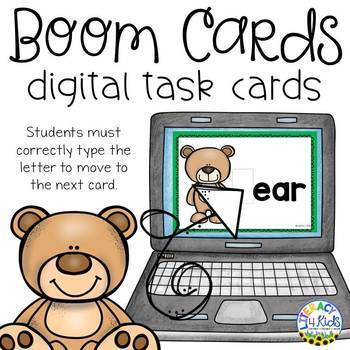 Type the Letter Boom Cards (Digital Task Cards) for Grades 1 and 2