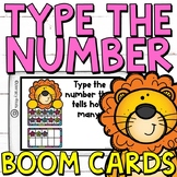 Type the Number Boom Cards (Digital Task Cards) for Second
