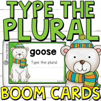 Type the Plural Boom Cards (Digital Task Cards) for Grades 2 and 3
