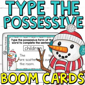 Type the Possessive Noun Boom Cards (Digital Task Cards) for Grades 3 and 4