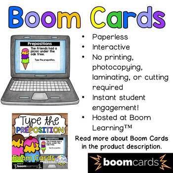 Type the Preposition Boom Cards (Digital Task Cards)