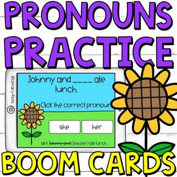 Type the Pronoun Boom Cards (Digital Task Cards) for Third Graders