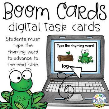 Type the Rhyming Word Boom Cards (Digital Task Cards) for Grades 1 and 2
