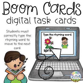 Type the Rhyming Word SET 2 Boom Cards  (Digital Task Cards)