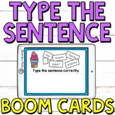 Type the Sentence (FOOD EDITION) Boom Cards (Digital Task Cards)