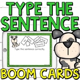 Type the Sentences Boom Cards (Digital Task Cards) for Gra