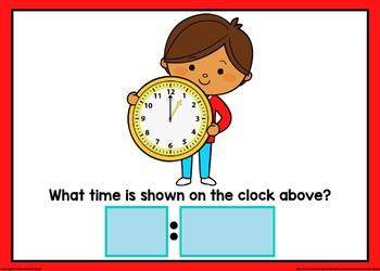 Type the Time Boom Cards (Quarter Hour Intervals)