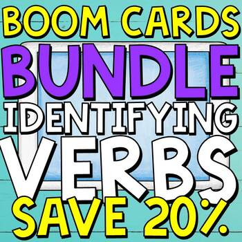 Identifying Verbs Boom Cards BUNDLE ⭐️SAVE 20%⭐️