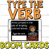 Type the Verb (FALL EDITION) Boom Cards (Digital Task Cards)