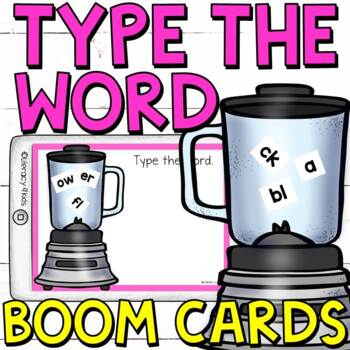 Type the Words Boom Cards (Digital Task Cards) for Grades 1 and 2