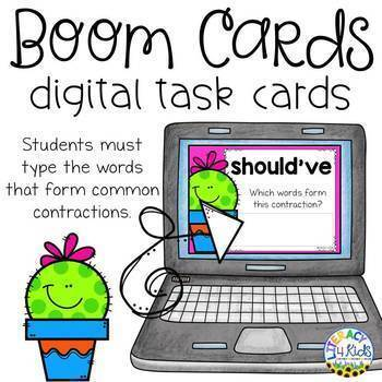 Type the Words Boom Cards (Digital Task Cards) for Grades 2 and 3