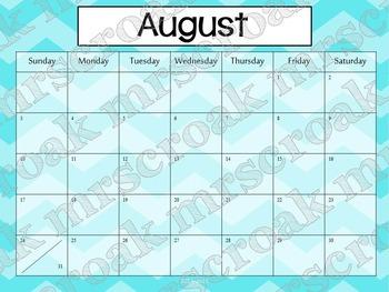 Typeable Calendar: Chevron Theme (3 years!)