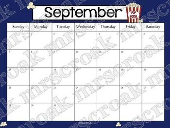 Typeable Calendar: Hollywood Theme (3 years!)
