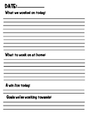 Typeable and Printable Therapy Log for Occupational Therap