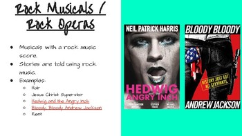 Types/Genres of Musicals PPT