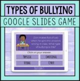 Types Of Bullying Google Slides Game For Bullying Prevention Lessons