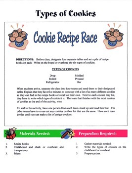 Types Of Cookies Game / Activity