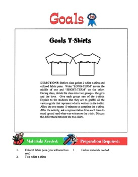 Types Of Goals Lesson