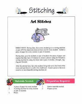 Types Of Machine Stitching Lesson