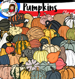 Types Of Pumpkins & Squashes Clip Art