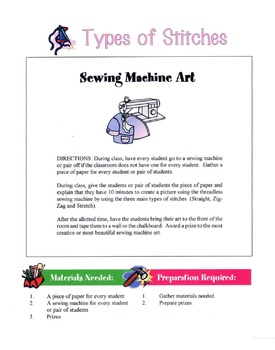 Types Of Stitching Lesson