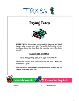 Types Of Taxes Lesson
