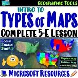 Walk-Around Activity and 5-E Lesson- Read and Interpret Maps