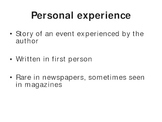 Types and Parts of a Newspaper Article