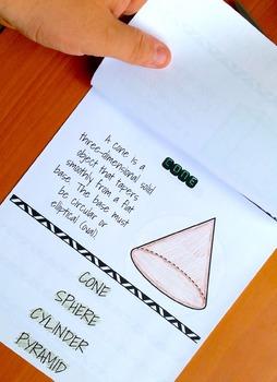 Types of 3D Shapes Flip Book