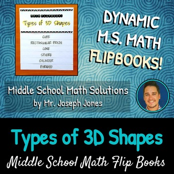 Types of 3D Shapes Flip Book