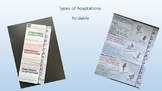 Types of Adaptations Foldable (Structural, Behavioral, Functional)