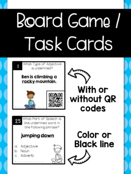 Types of Adjectives Board Game / Task Cards