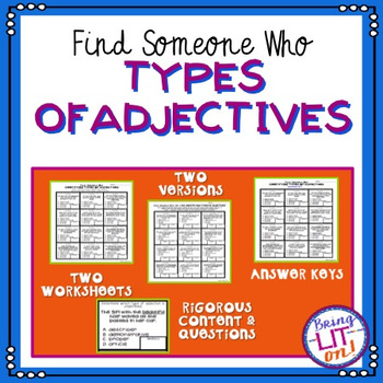 Types of Adjectives - Find Someone Who