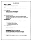 Types of Adjectives Handout