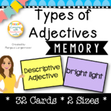 Types of Adjectives Memory Game